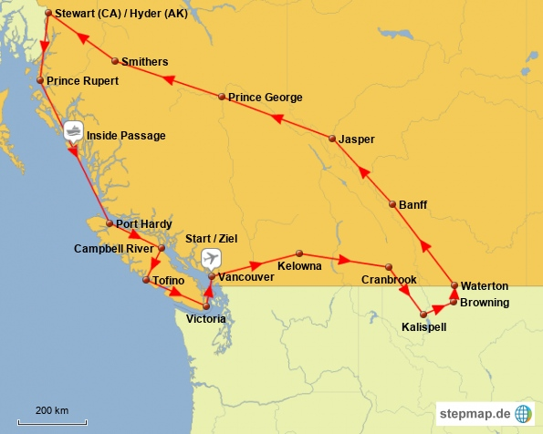 Route 5000 km Kanada