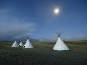 Tipi in der Prärie von Montana