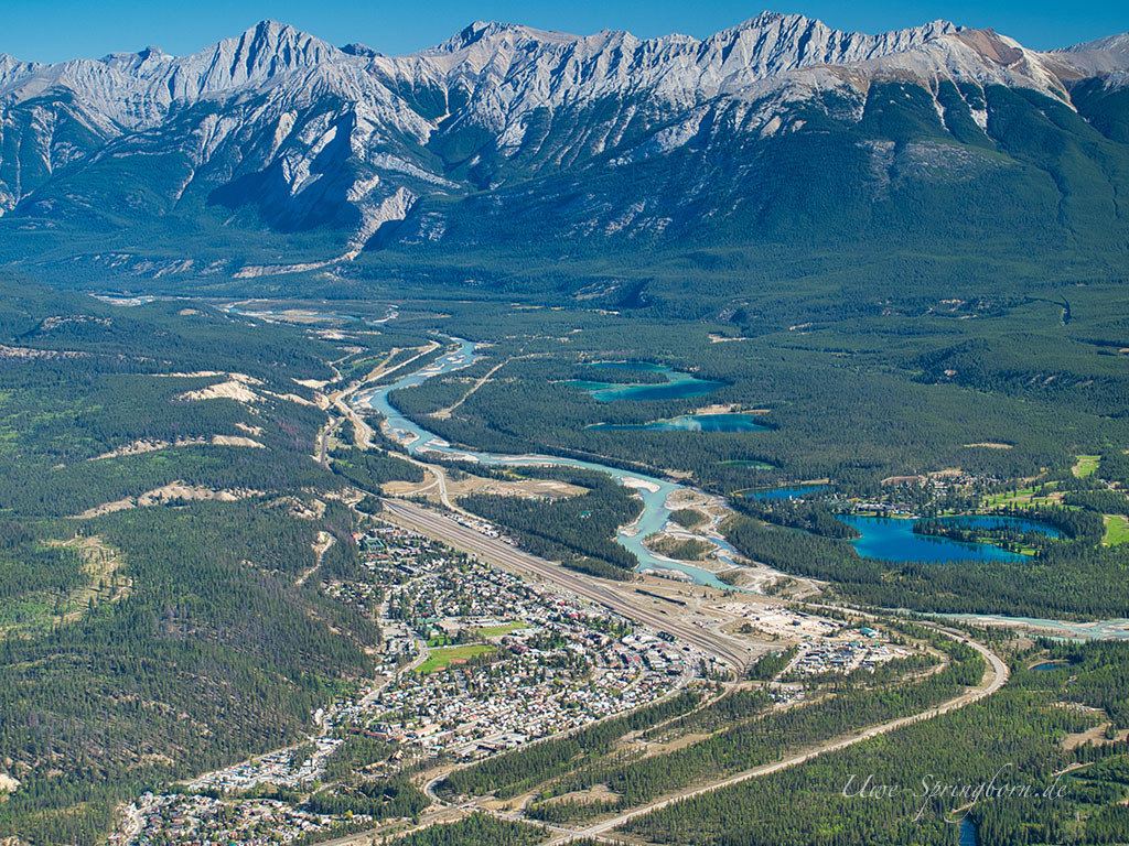 Blick vom Mount Whistler auf Jasper