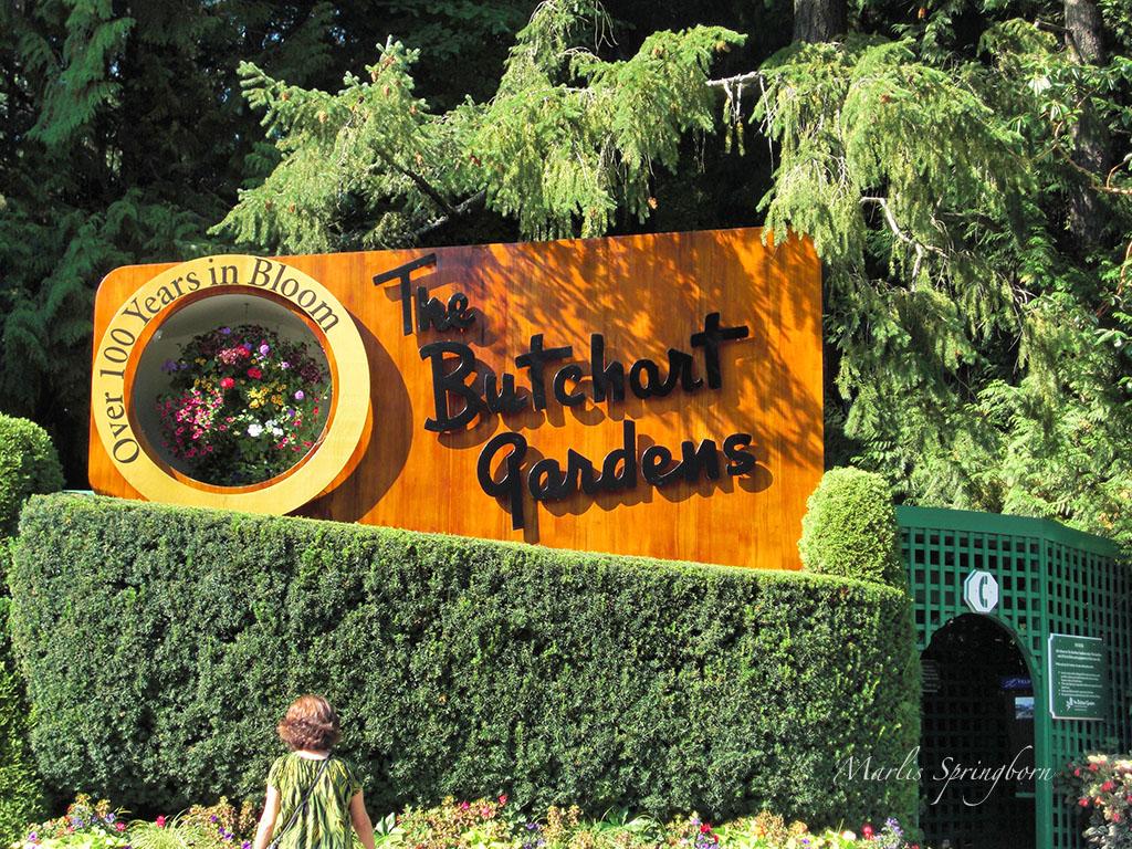 Butchart Gardens Eingang