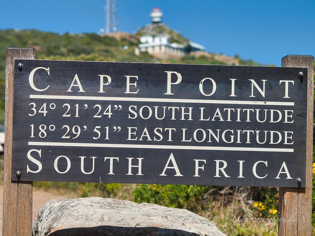 Schild Cape Point
