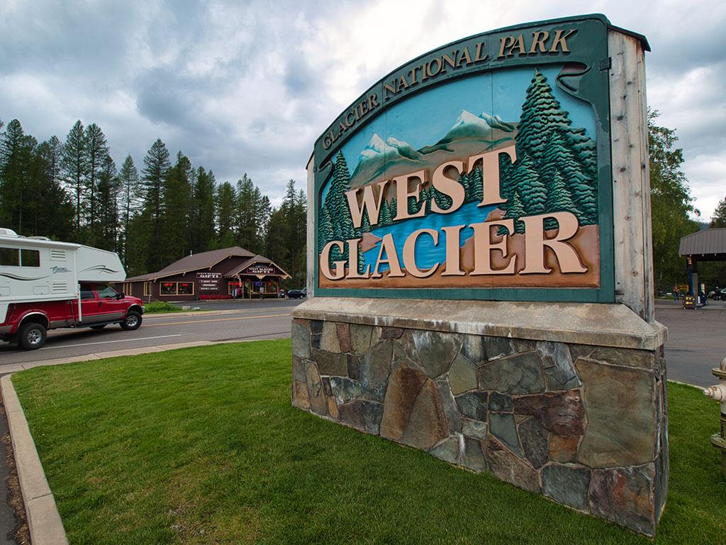 Eingang Glacier National Park