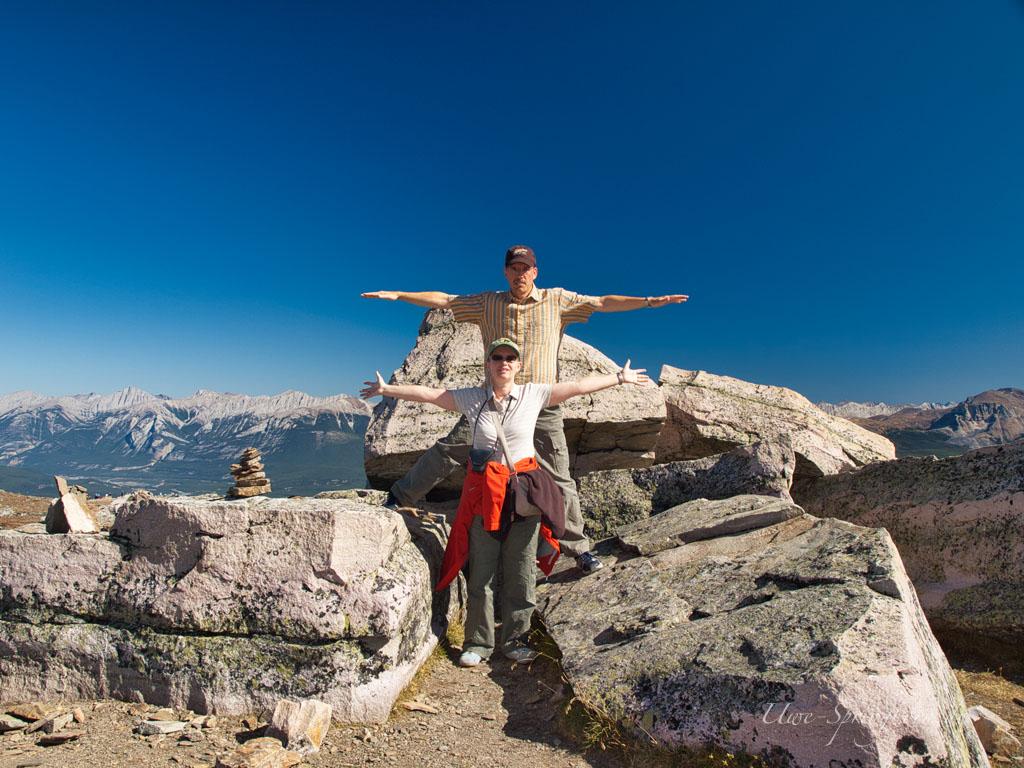 Auf dem Gipfel des Mount Whistler