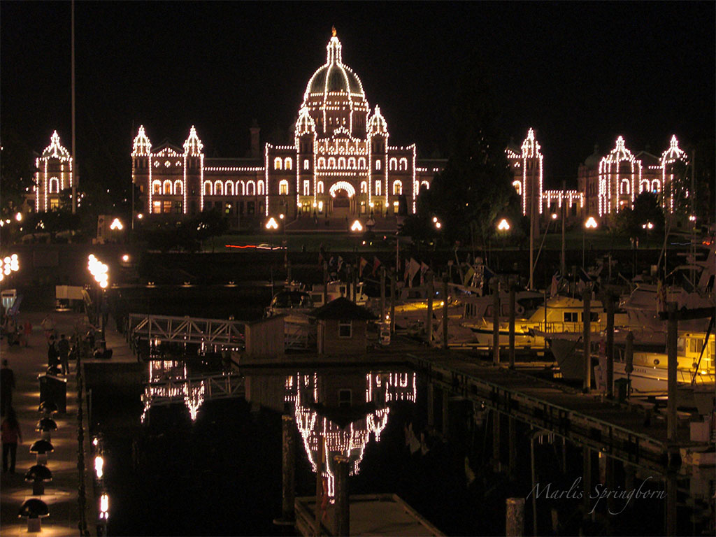 Victoria Parlamentsgebäude nachts