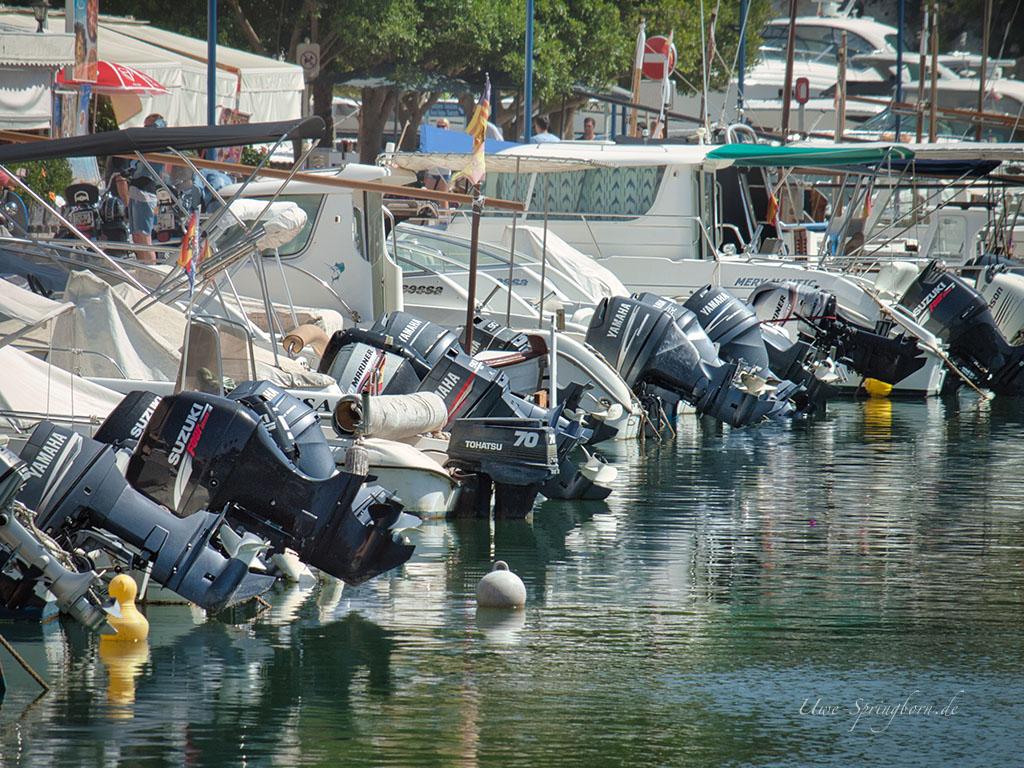 Sicherung von Boot und Bootsmotor